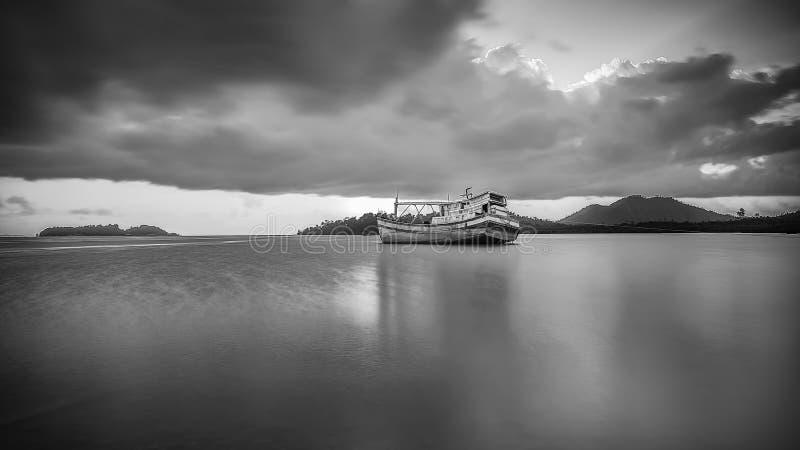 BlackWhite Landscape Photos at Bintan batam Island. Indonesia stock images