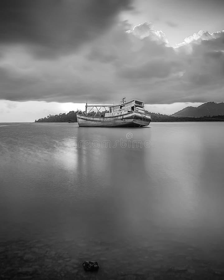 BlackWhite Landscape Photos at Bintan batam Island. Indonesia royalty free stock images