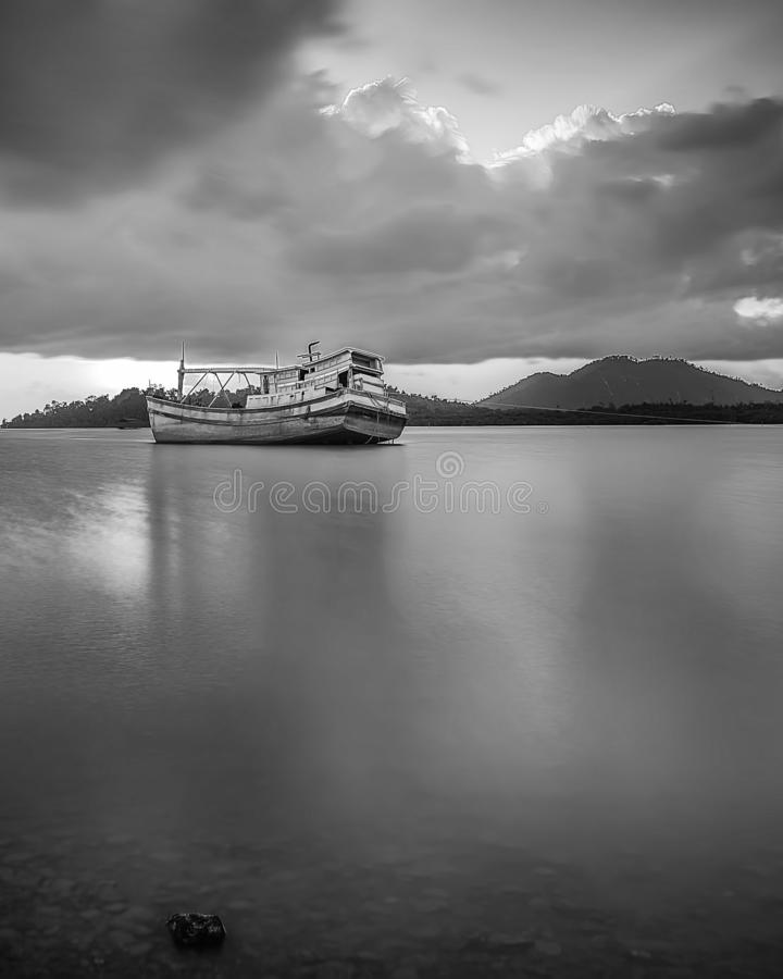 BlackWhite Landscape Photos at Bintan batam Island. Indonesia stock image