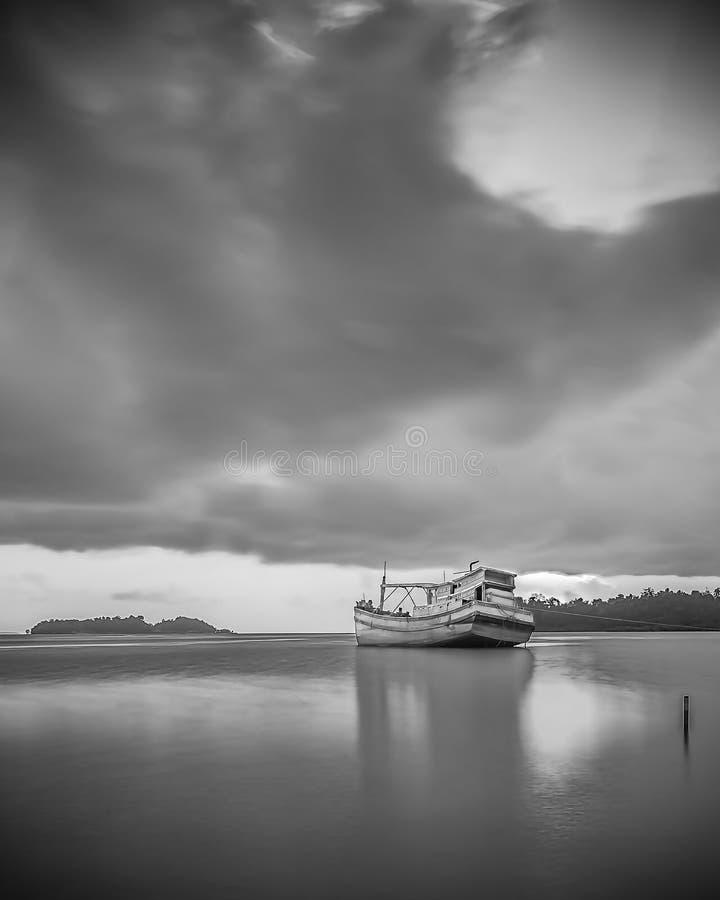 BlackWhite Landscape Photos at Bintan batam Island. Indonesia royalty free stock image