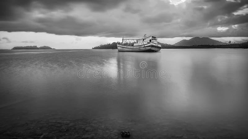 BlackWhite Landscape Photos at Bintan batam Island. Indonesia royalty free stock photo