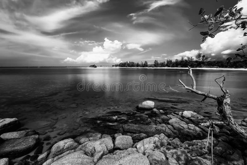 Blackwhite Photos at Batam Bintan Islands. Indonesia royalty free stock photo