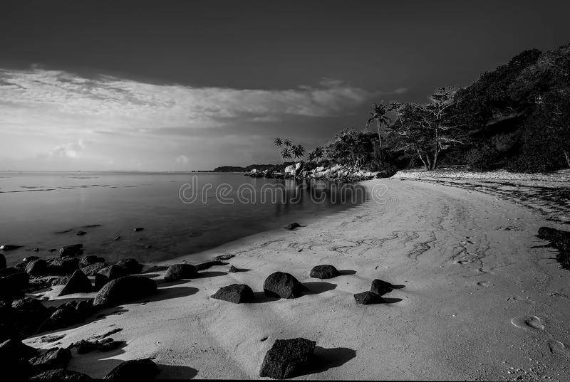 Blackwhite Photos at Batam Bintan Islands. Indonesia stock image