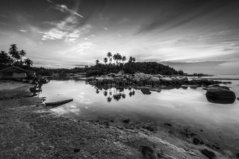 Blackwhite Photos landscape Wonderful Bintan Indonesia. Blackwhite Photos landscape Wonderful Bintan batam Indonesia royalty free stock photos