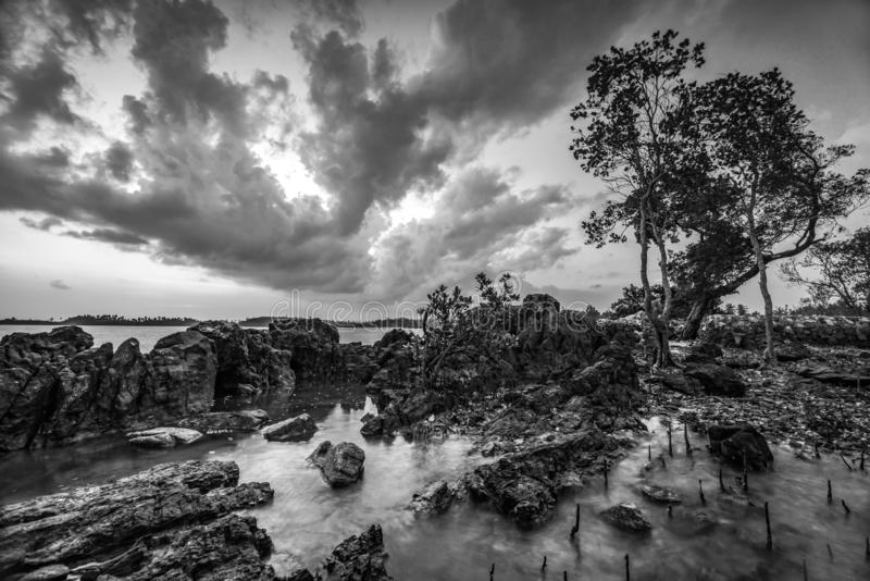 Blackwhite Photos landscape Wonderful Bintan Indonesia. Blackwhite Photos landscape Wonderful Bintan batam Indonesia stock images