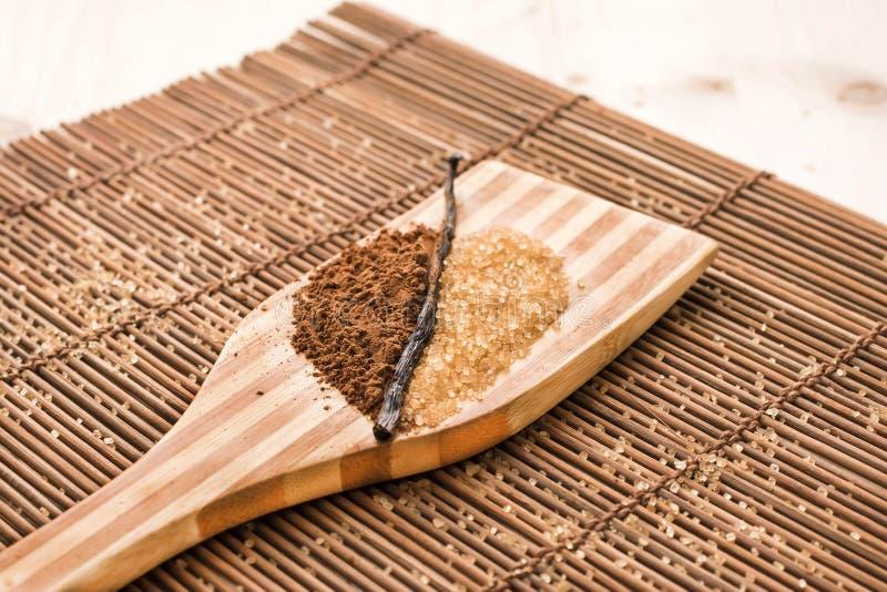 Blad av kryddor arkivbild