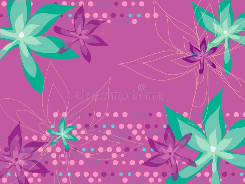 Blad bloemenpuntenmagenta royalty-vrije illustratie