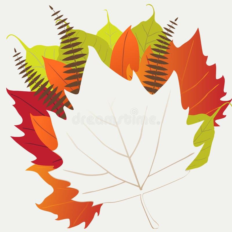 Blad, de herfst - vectorachtergrond royalty-vrije illustratie
