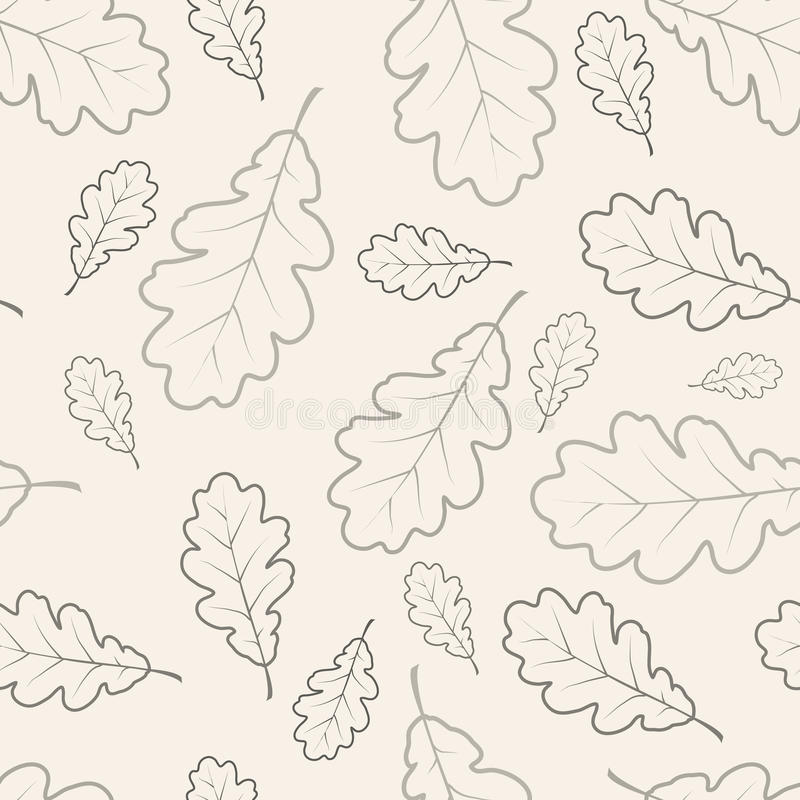 blad den seamless oakmodellen stock illustrationer