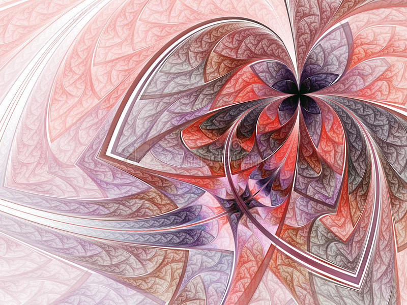 Blad gevormde bloem of vlinder vector illustratie
