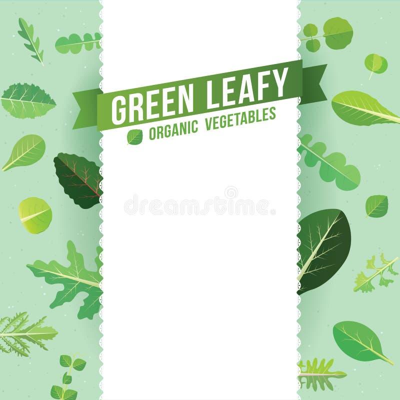 Blad Greens Groenten royalty-vrije illustratie
