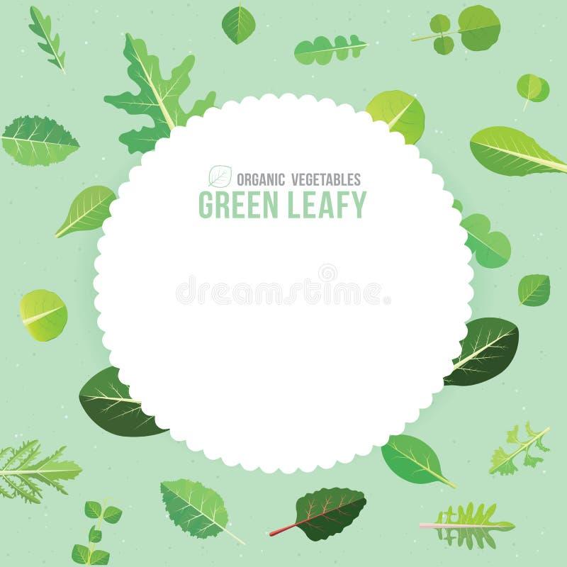 Blad Greens Groenten vector illustratie