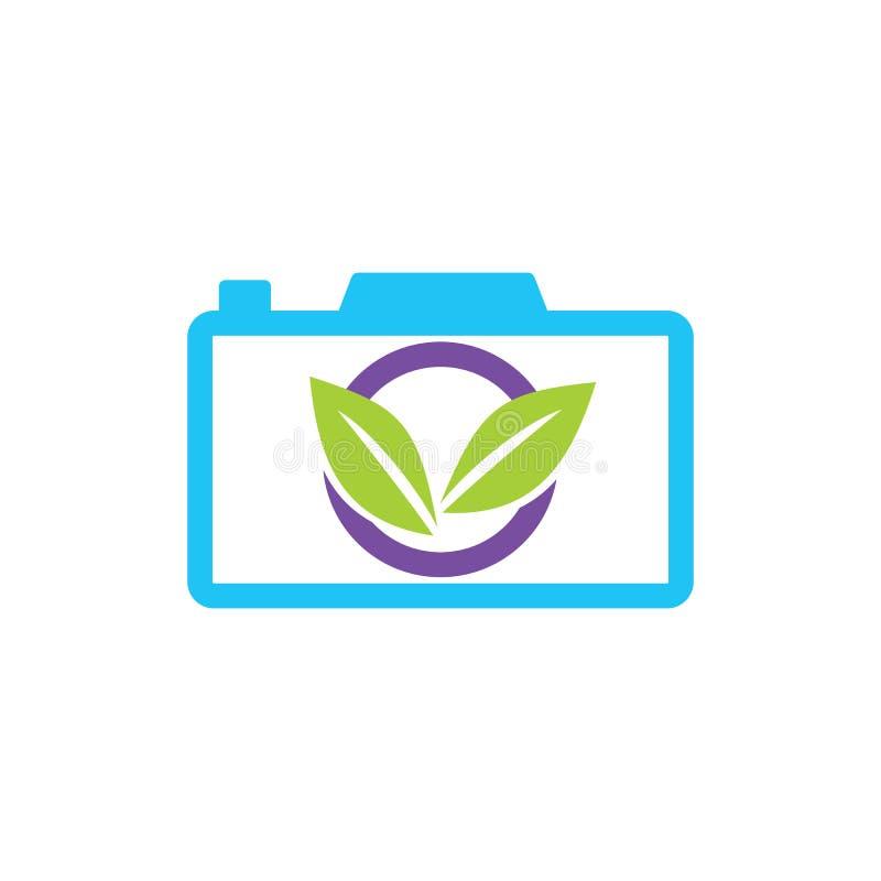 Blad Logo Design Vector Template Isolated royaltyfri illustrationer