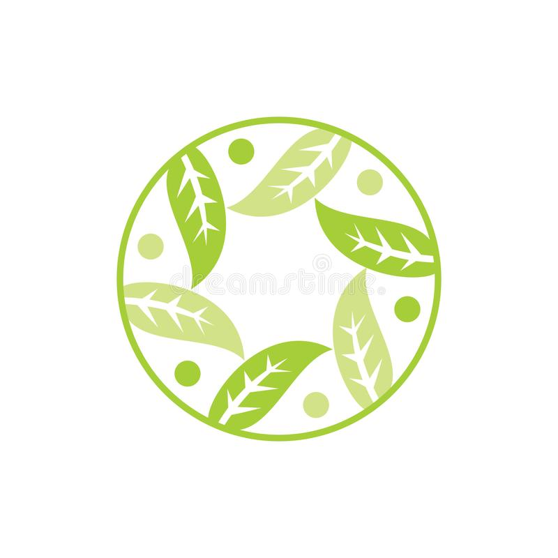 Blad Logo Design Vector Template Isolated stock illustratie
