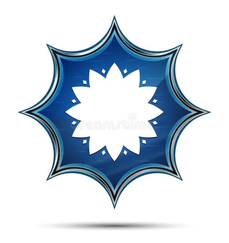 Blad magische glazige de zonnestraal blauwe knoop van het bloempictogram vector illustratie