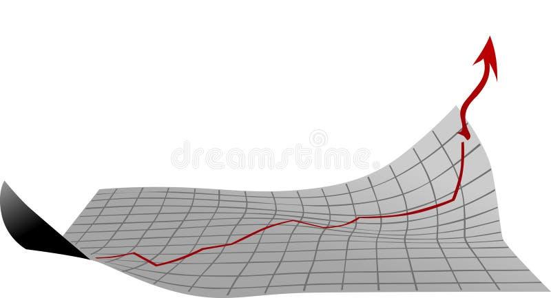 Blad met de groeidiagram royalty-vrije stock foto's
