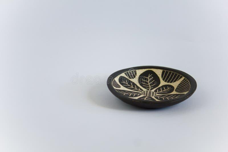 Blad ontworpen aardewerk royalty-vrije stock afbeelding