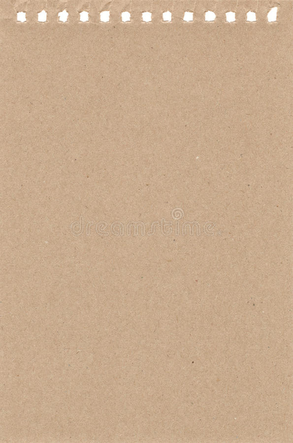 Blad van document van een notitieboekje vector illustratie