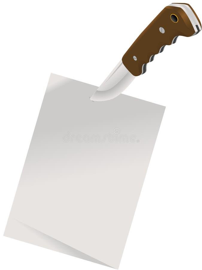 Blad van een document stock illustratie