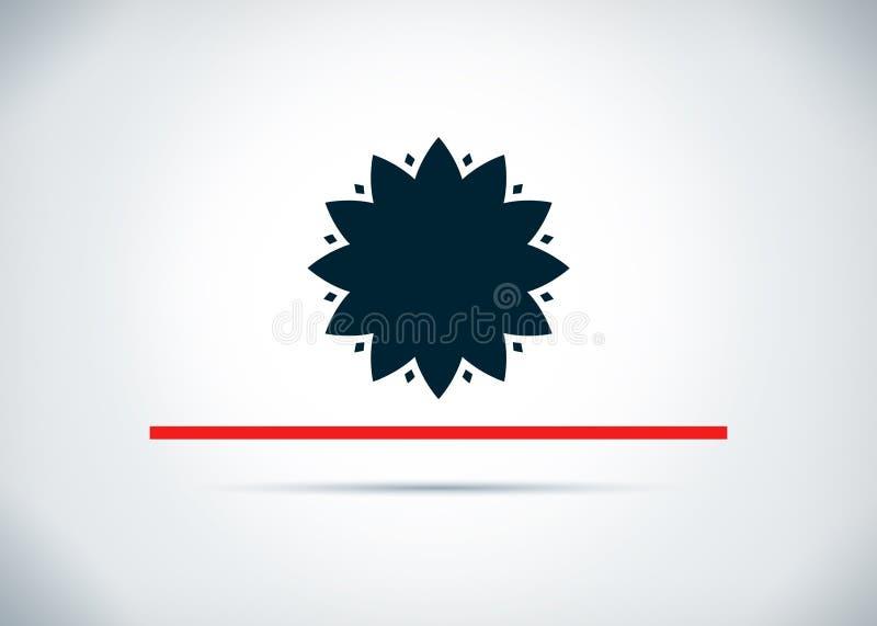 Blad van het achtergrond bloempictogram abstracte vlakke ontwerpillustratie royalty-vrije illustratie