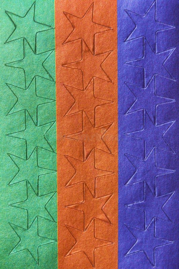 Blad van kleurrijke sterstickers stock foto's