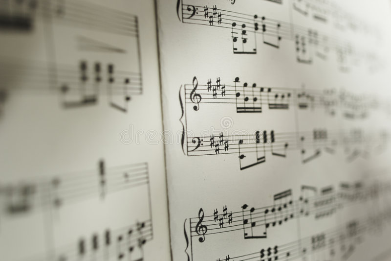 Blad van muzieknoten royalty-vrije stock fotografie