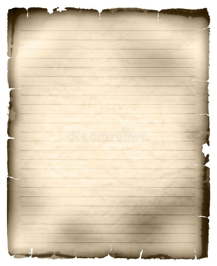 Blad van oud beslist document vector illustratie