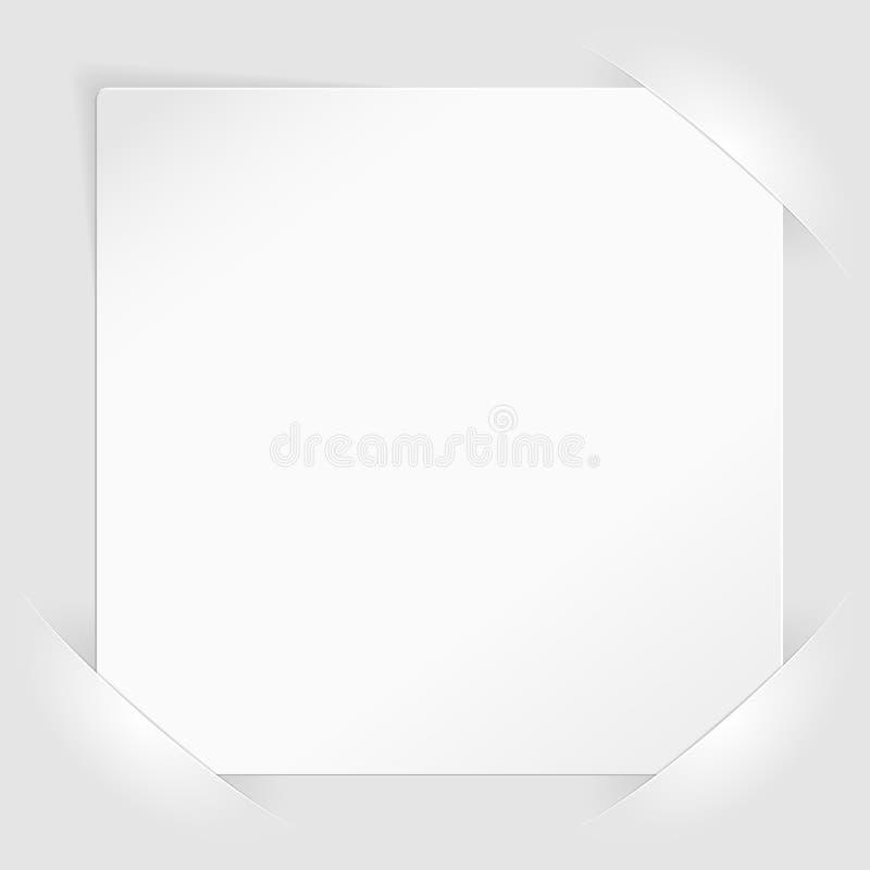 Blad van Witboek opgezet in zakken stock illustratie