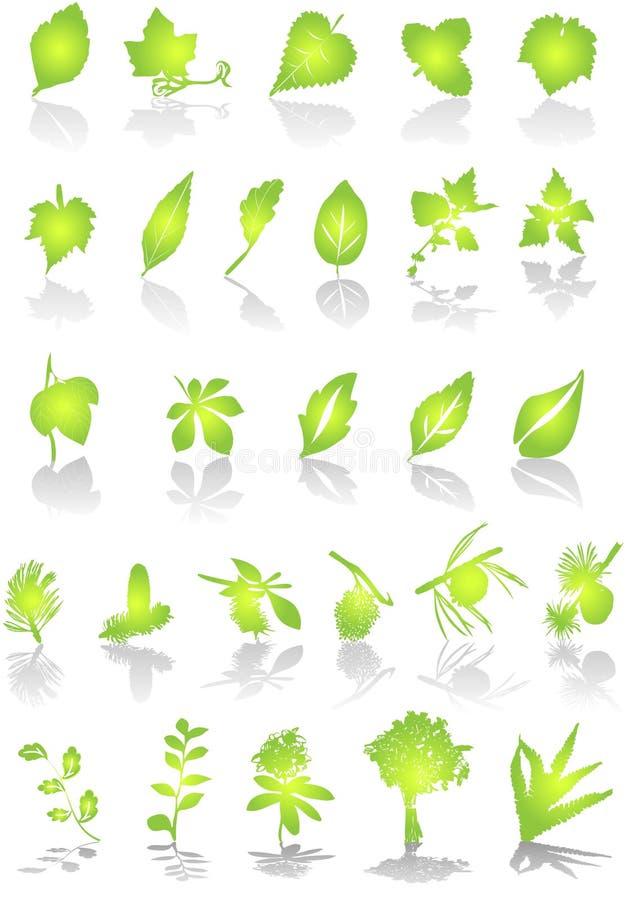 blad vektorn stock illustrationer