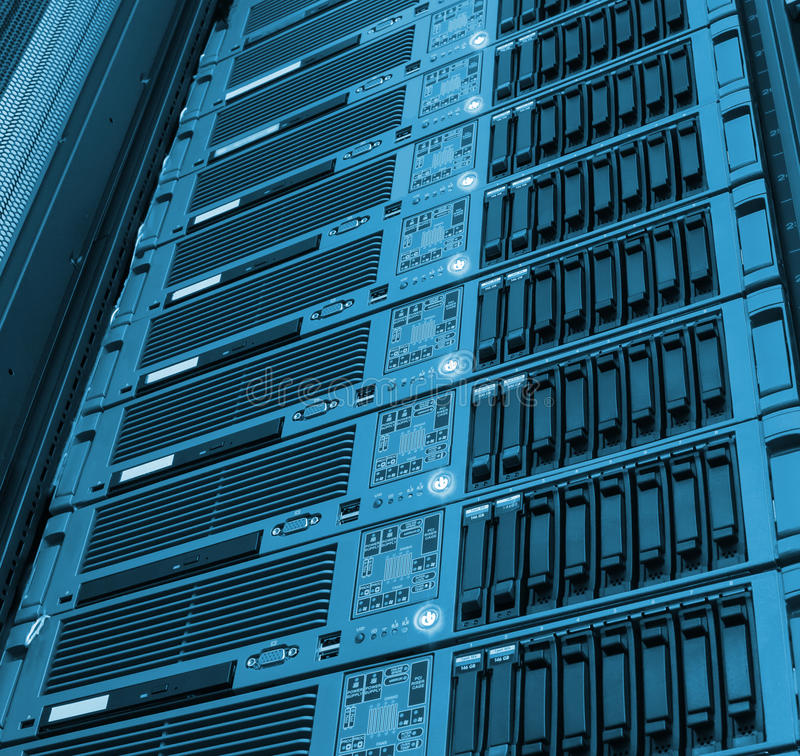 Blade array of mainframe processing computing and storage royalty free stock image