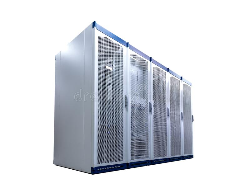 Blade server rack isolated on white background, vector illustration