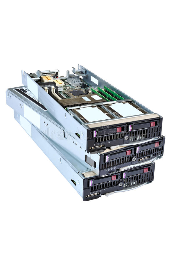 Blade servers 01 stock images