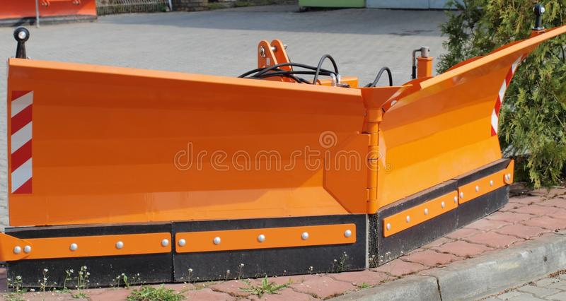 Download Blade for snow removal stock image. Image of metal, outdoors - 39566629