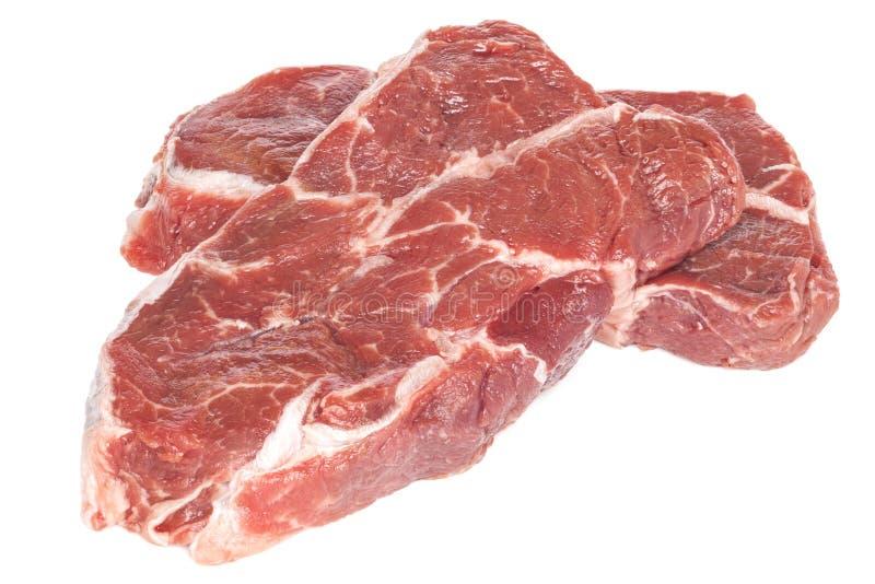 Blade Steak Raw stock images