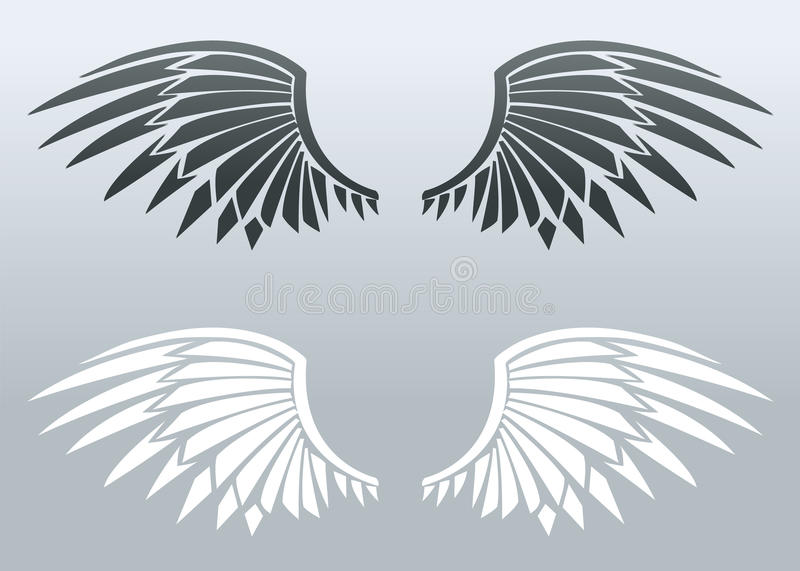 Blade wings royalty free illustration