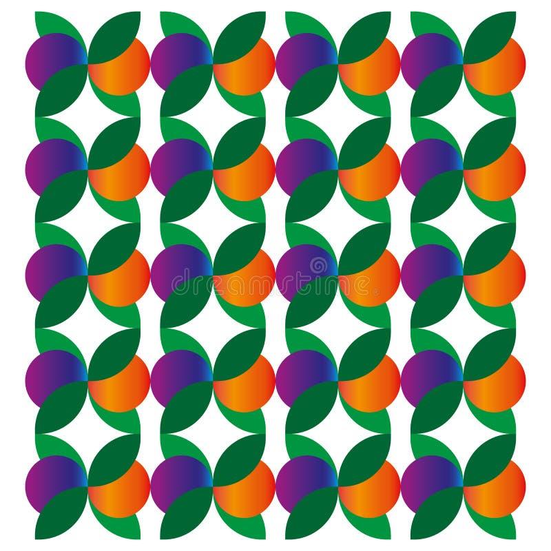 Bladembleem met bessen logotype Vector royalty-vrije illustratie