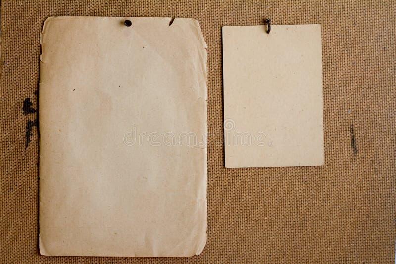 Bladen van oud document stock foto's