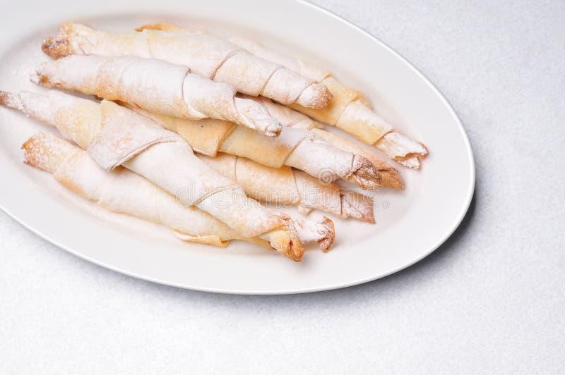 Bladerdeegbroodjes royalty-vrije stock afbeeldingen