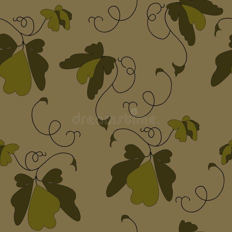 Bladeren in bruine kleur worden geschilderd die royalty-vrije stock fotografie