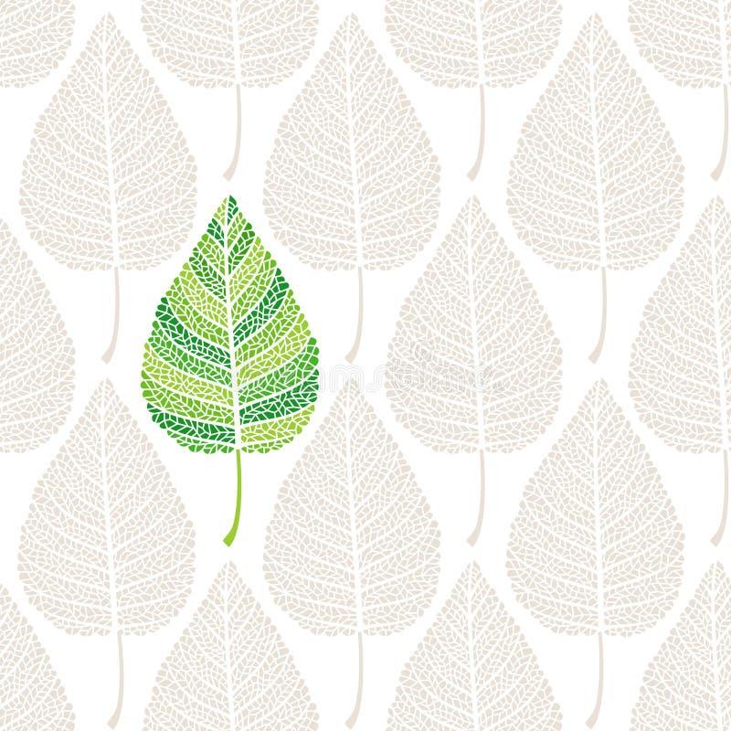 Bladeren naadloze achtergrond royalty-vrije illustratie
