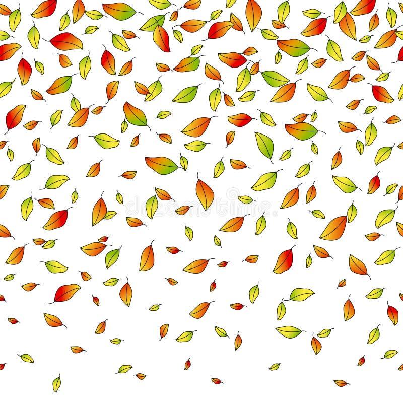 Bladeren van de herfst, vector naadloos patroon, een concepten vectorillustratie royalty-vrije illustratie