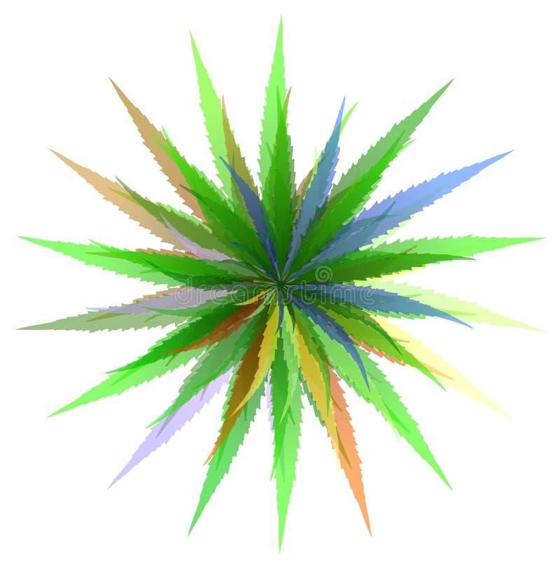 Bladeren van gras royalty-vrije illustratie