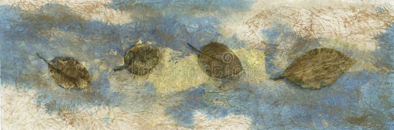 Bladeren Weefsel royalty-vrije illustratie