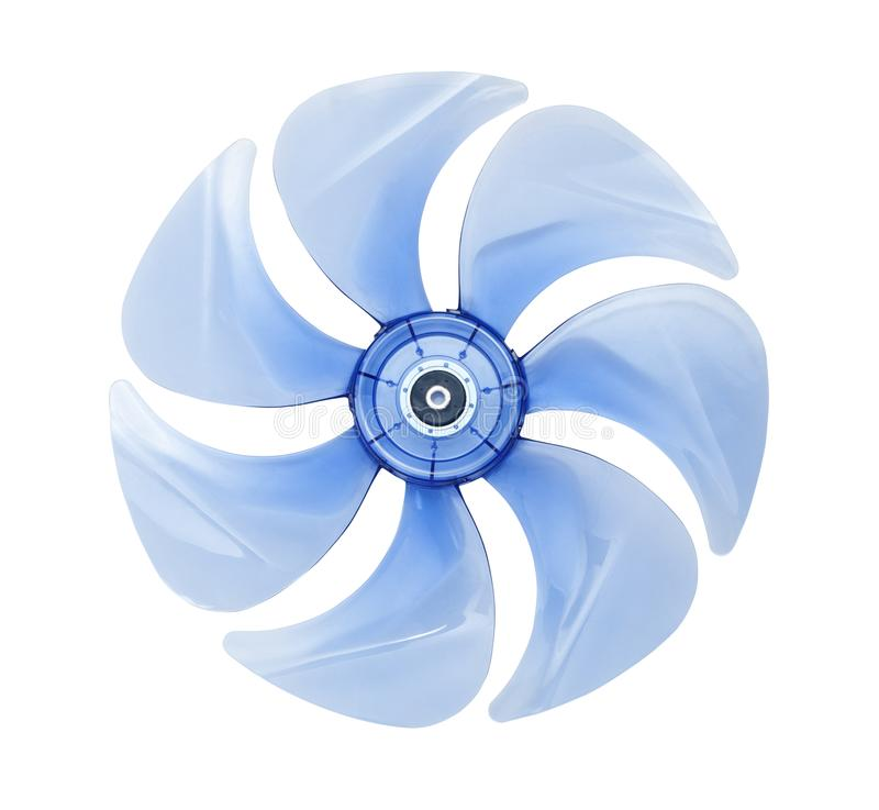 Blades of electric fan royalty free stock photo