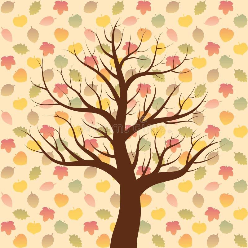 Bladnedgång milda Autumn Mood stock illustrationer