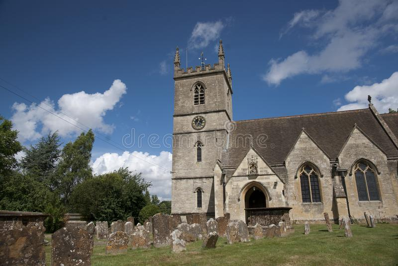 Bladon,伍德斯托克,英国,教会7月2013年,圣Martins温斯顿・丘吉尔先生埋葬地方  库存图片