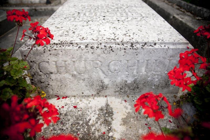 Bladon,伍德斯托克,英国,教会7月2013年,圣Martins温斯顿・丘吉尔先生埋葬地方  库存照片