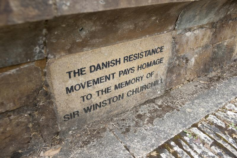 Bladon,伍德斯托克,英国,教会7月2013年,圣Martins温斯顿・丘吉尔先生埋葬地方  图库摄影
