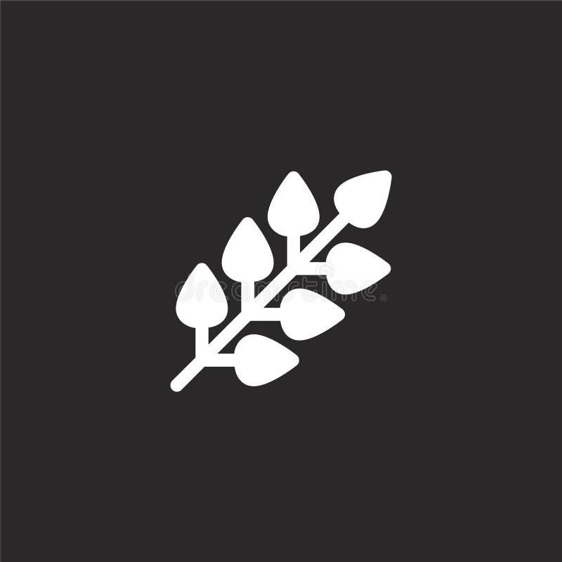 Bladpictogram Gevuld bladpictogram voor websiteontwerp en mobiel, app ontwikkeling bladpictogram van gevulde geïsoleerde wilderni royalty-vrije illustratie