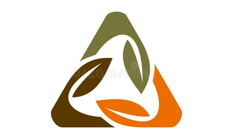 Bladrotation Logo Design Template stock illustrationer